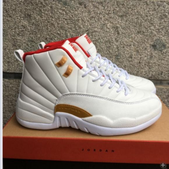 Shoes   Nike Air Jordan 12 White Red